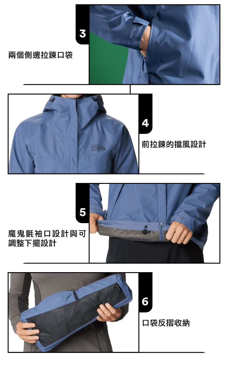 Mountain Hardwear GTX 輕量防水連帽外套 Exposure2 Gore-Tex Paclite Jacket W